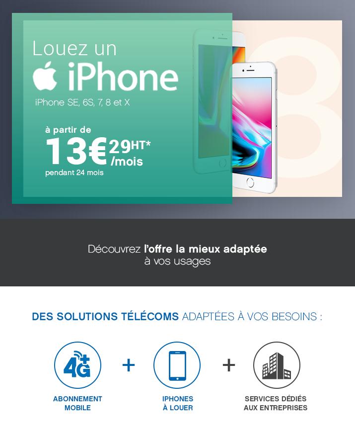 Louez un Iphone à 13€ /Mois/HT !