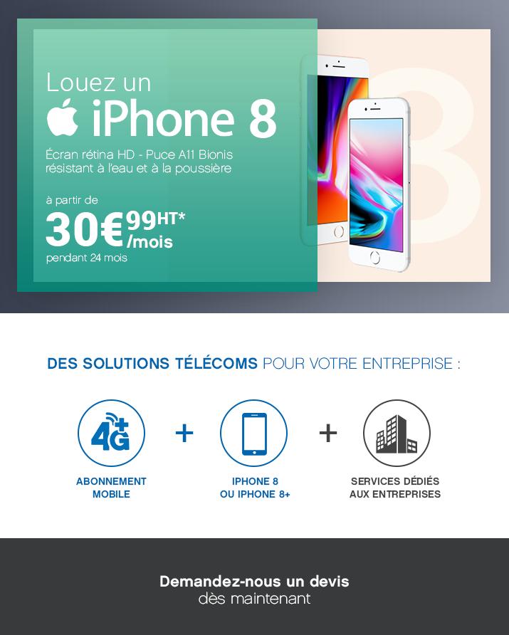 Louez un iPhone à 30.99€ /Mois/HT !