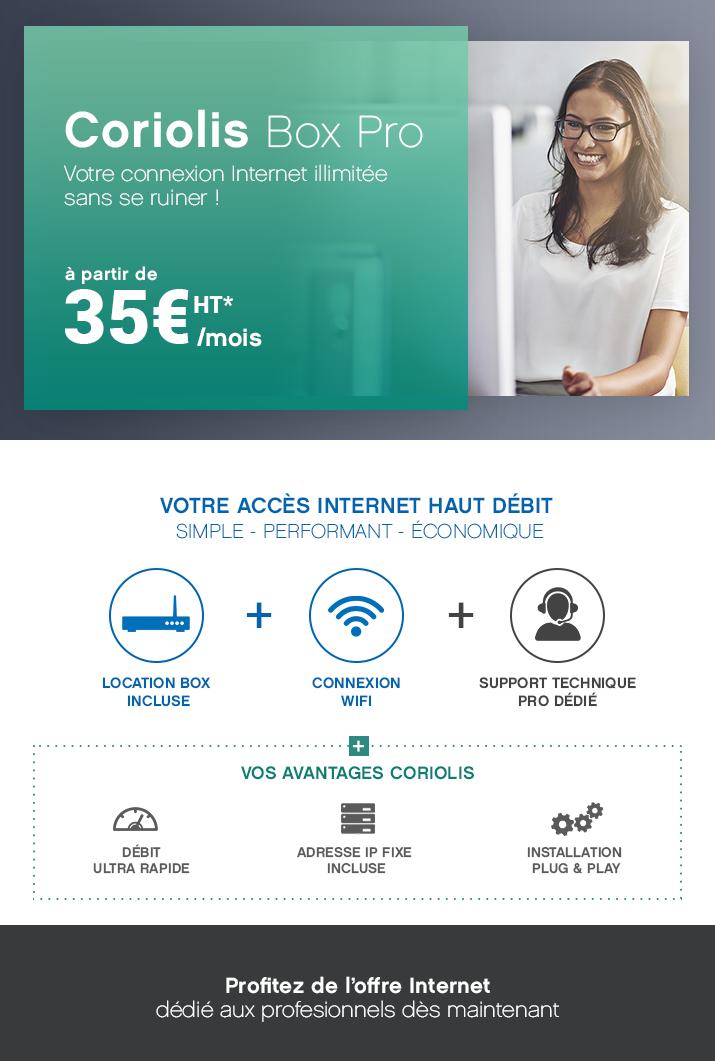 Offre Coriolis Internet Pro,profitez du haut débit pour 35€*/mois !