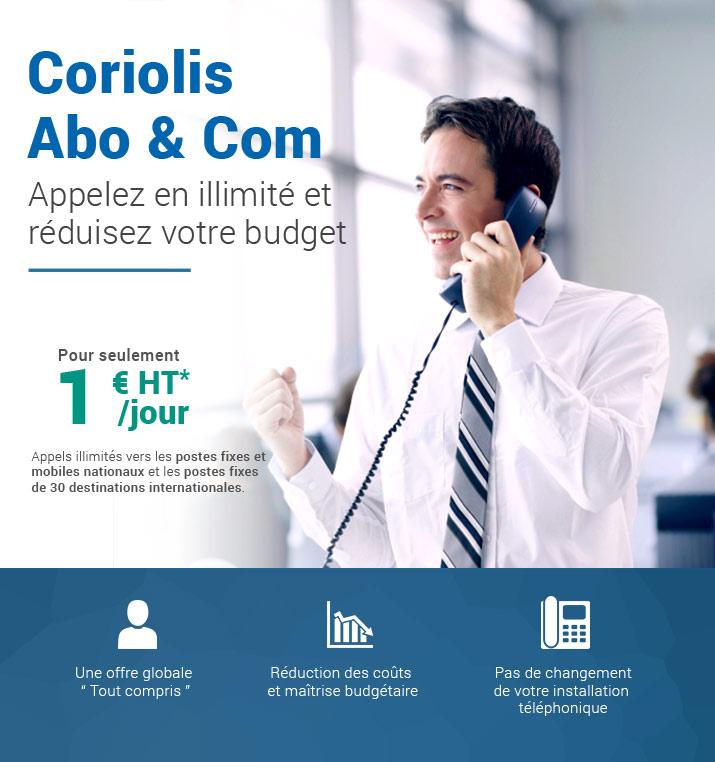 Offre Abo & Com, appelez en illimité pour 1€*jour !