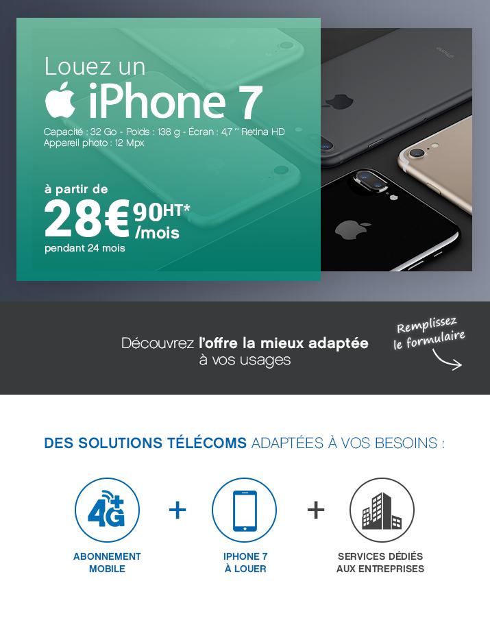 Louez un Iphone à 28,90€ /Mois/HT !